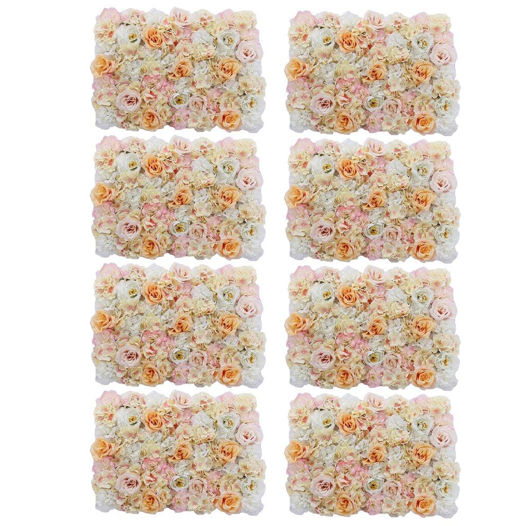 Homyl 8 stk. Künstliche Blumen Säule, Kunstblumen Panel für Wand Schaufenster Hochzeit Dekor