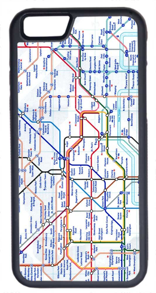 Angel London Map.Amazon Com Iphone 6 Case Cellpowercasestm London Tube Map Flex