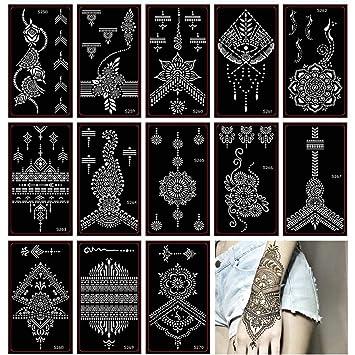 Amazon Com Henna Tattoo Stencil Glitter Temporary Tattoo Temples