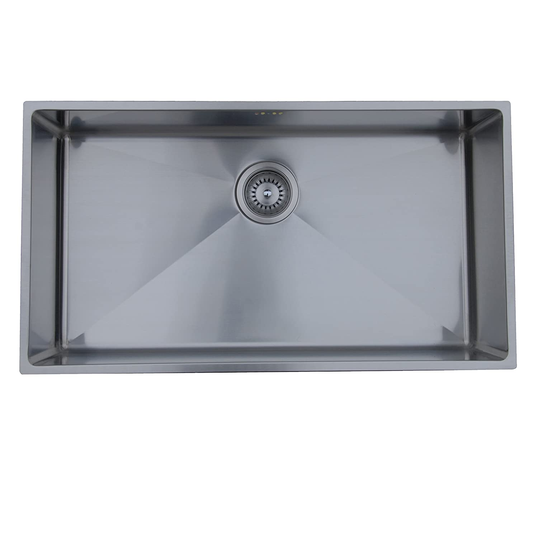 Ukinox RS838 Modern Undermount Single Bowl Stainless Steel Kitchen ...