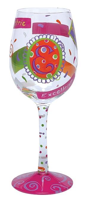 Lolita pintado a mano copa de vino E creastuce con la caja de regalo: Amazon.es: Hogar