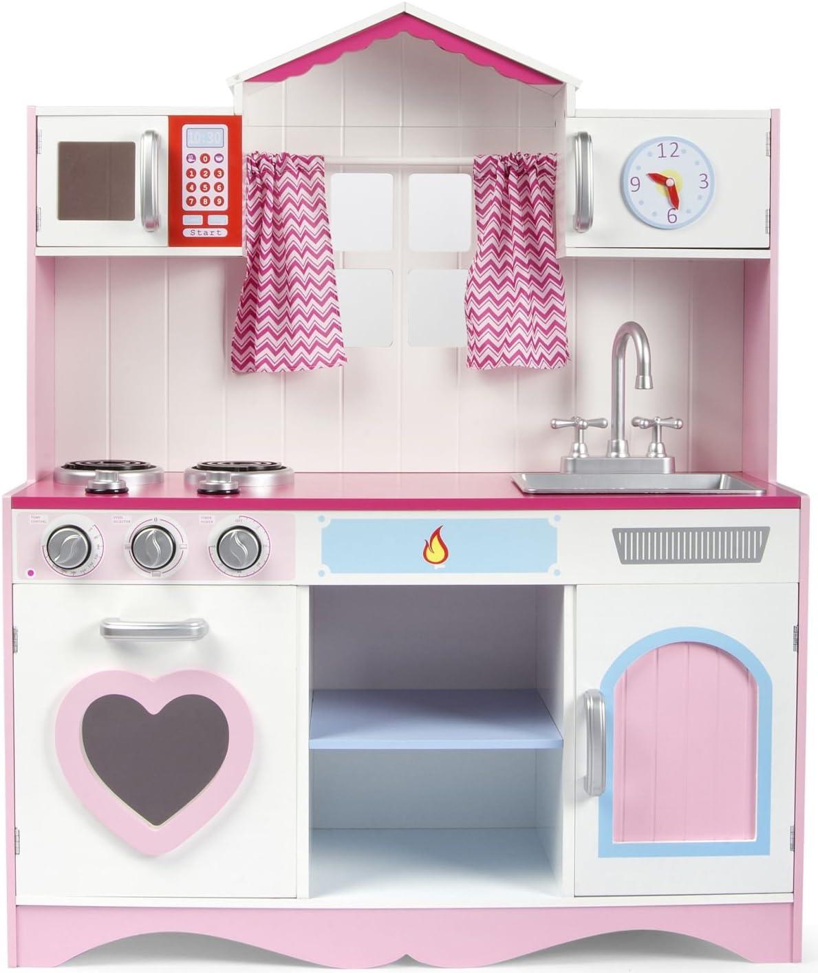Große Holzküche für Kinder Pink Play