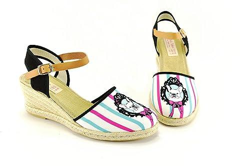ALPARGATAS MUJER ADELA SOLER CON SIGLO CERO:PERRO-40: Amazon.es: Zapatos y complementos