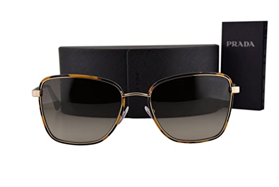 c80df89862c5b Prada PR52SS Cinema Sunglasses Pale Gold w Green Gray Gradient Lens 7S04K1 SPR  52S  Amazon.co.uk  Clothing