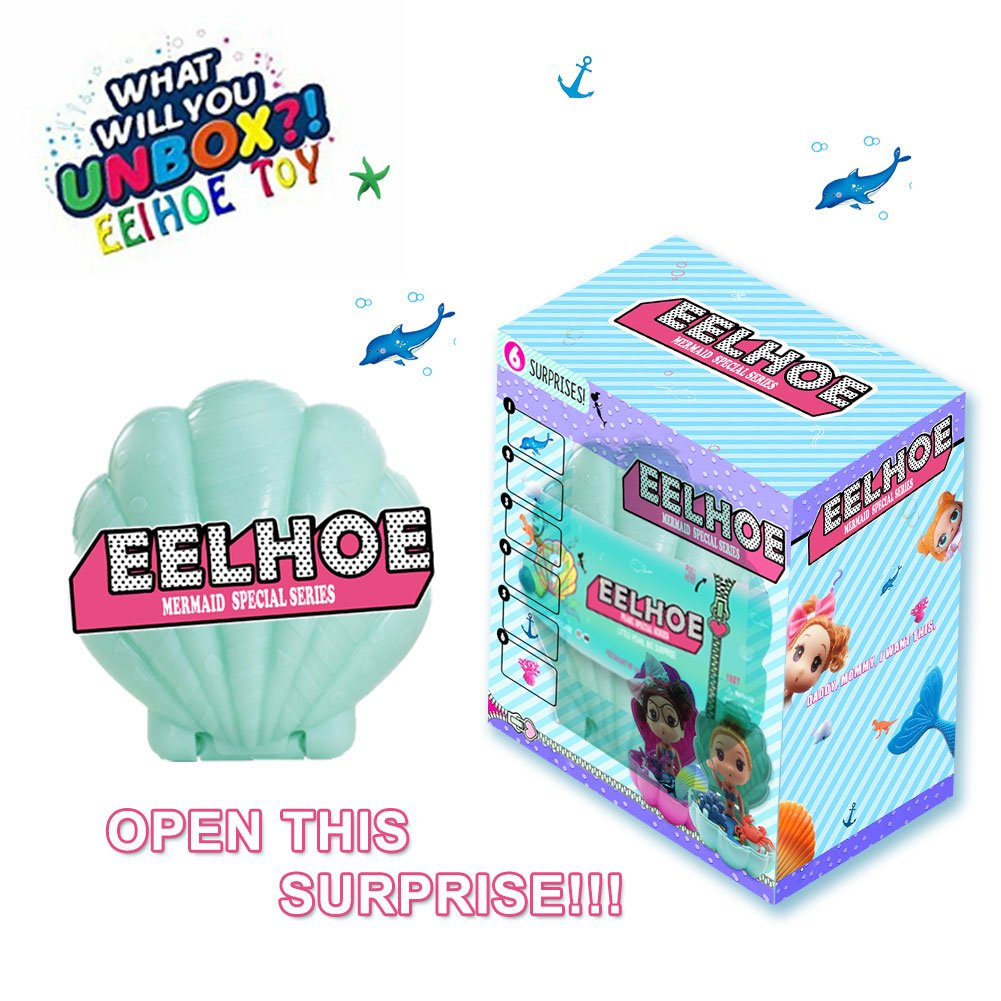 EELHOE Surprise Shell Dolls Marine Series Confetti Pop Special Limited Edition Dolls 2018 Marvelous Marine Mini Biological Random Combination Accessories (Green)