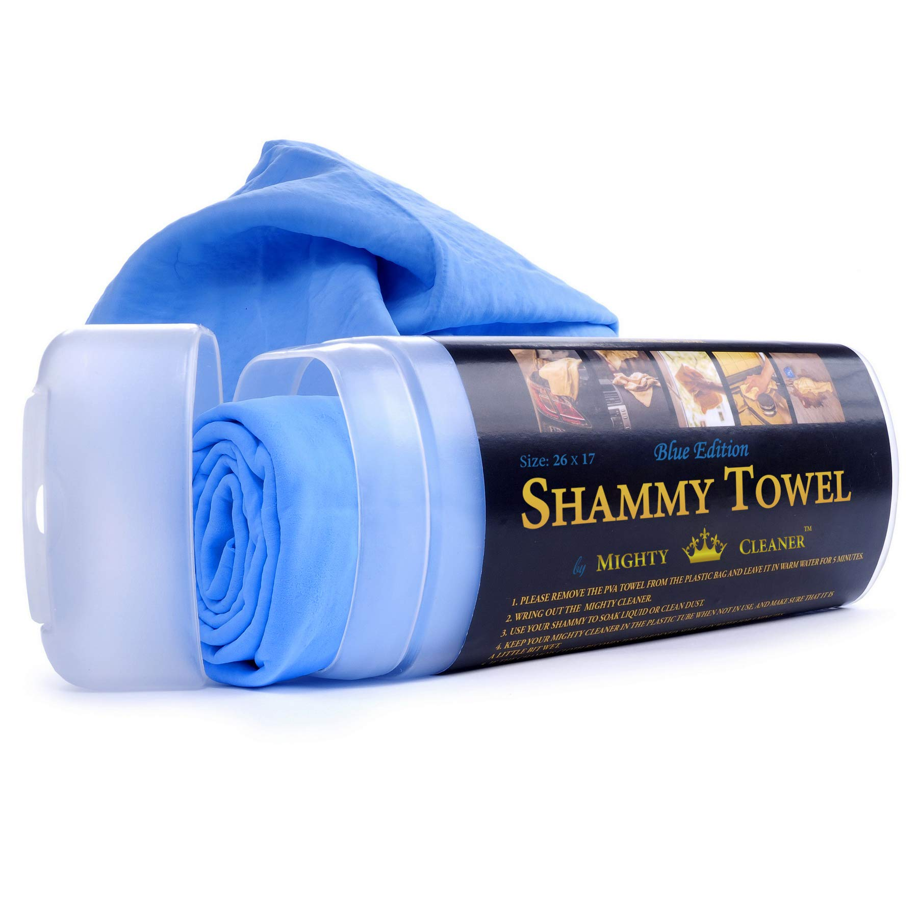 Mighty Cleaner Car Drying Towel - 26'' x 17'' Chamois Cloth for Car - Original Shammy Towel for Car
