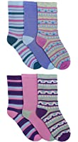 Ladies Pastel Pattern 12 Pack Socks Uk 4-7 Eur 37-41