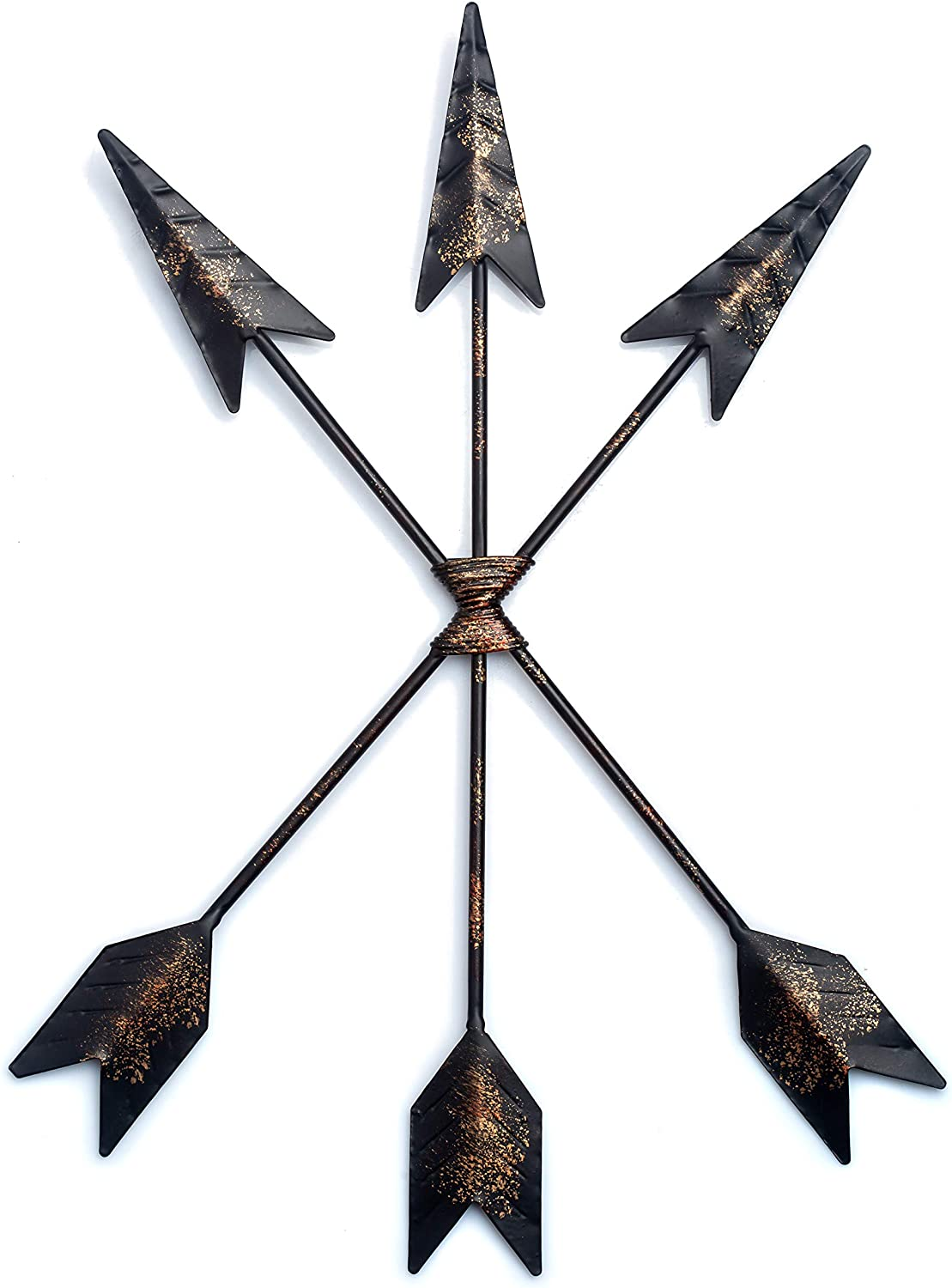CraftyCrocodile Arrow Wall Decor - Native American Decoration for Rustic, Farmhouse, Distressed Aesthetic - Symbolic Cast Iron Art Piece for Home, Living Room, Gallery Display, Cafe - Hook Included