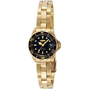 Invicta Womens 8943 Pro Diver Collection Gold-Tone Watch