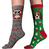 Mens & Womens Fun Novelty Holiday Halloween Christmas Hanukkah Valentine's Day St Patty's Day Socks- One Size Fits Most