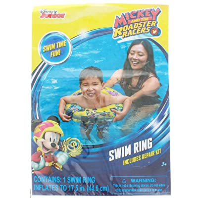 UPD Mickey Roadster Racers Inflatable Swim Ring: Toys & Games