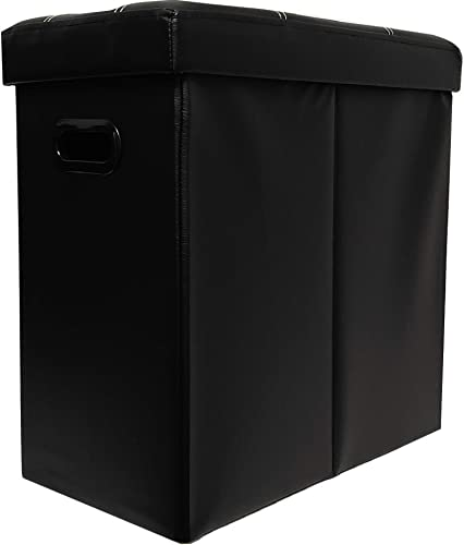 Pacific Trendz Foldable Tower Storage Table Black