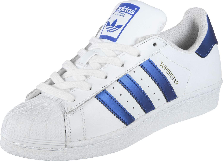 Adidas Originals Superstar Turnschuhe weiß blau 8 UK - 42 EU - 8.5 US