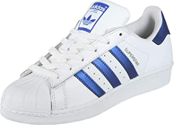 adidas Originals Superstar Sneaker weißblau, 10.5 UK 45 1