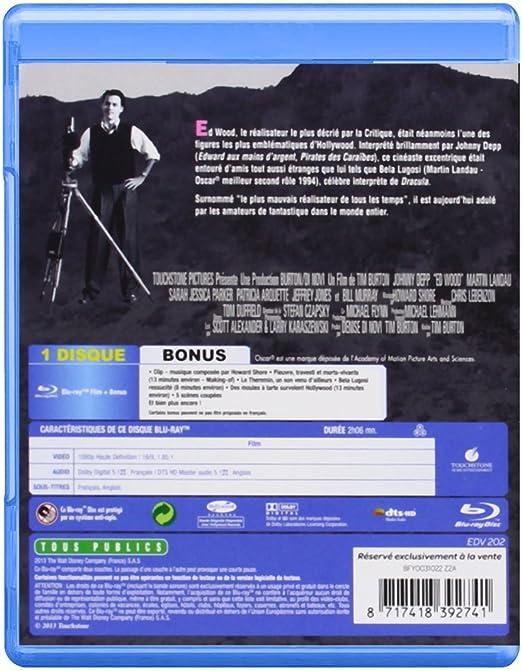Ed Wood [Francia] [Blu-ray]: Amazon.es: Johnny Depp, Martin Landau ...