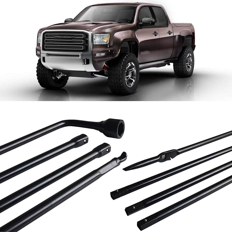 Hediy Car Spare Tire Tool Kit 4-Piece Fit 2000-2014 Chevy Silverado Replacement 22969377 Hediy Factory