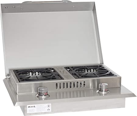 Bull Outdoor Products 60099 Stainless Steel Double Side Burner, Natural Gas