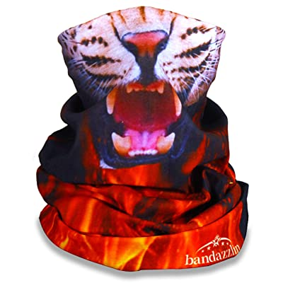 Leopard Print Motorcycle Face Mask for Women Biker Seamless Bandana Half Face Shield for Riding Fishing Hunting Outdoor Running Rave Festival Dust Wind Protection Tube Mask Multifunctional Headwear: Automotive