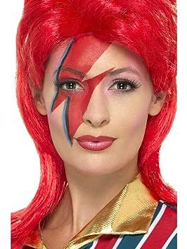 Halloweenia - Accesorios de Disfraz Space Superstar, Set de Maquillaje, Carnaval, Carnaval y Noche de Fiesta, Color Rojo: Amazon.es: Juguetes y juegos