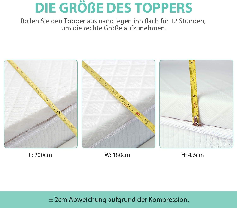 80 x 190 cm RECCI New 4CM Topper