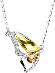 c2bb0d69e Mondaynoon Valentine's Day Gift Become a Butterfly Crystal Pendant Necklace  Jewelry Commemorate Love
