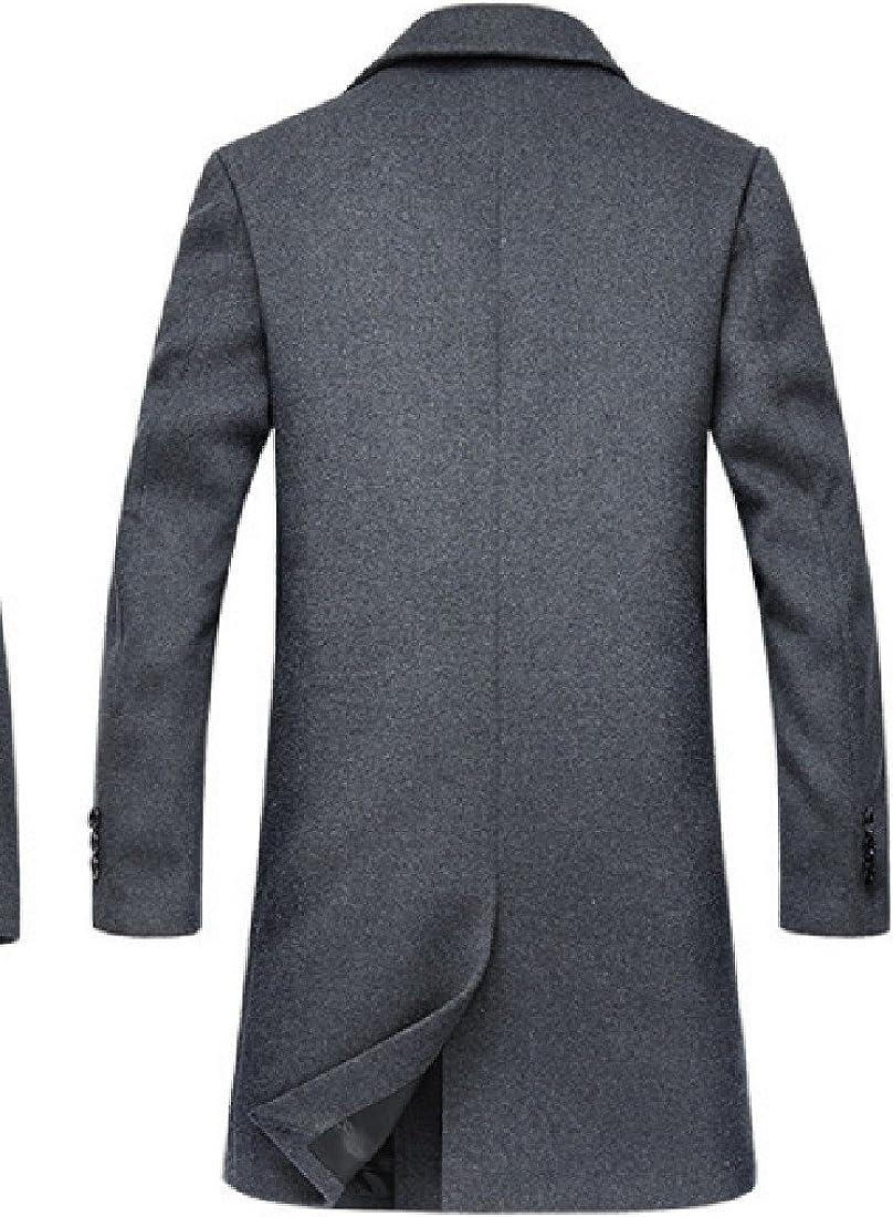 Sankthing Sankt Men Overcoat Autumn Winter Jacket Double Breasted Pea Coat