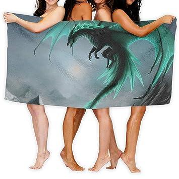 Toallas de baño KSIY Cool Dragon Hotel-Spa-Pool-Gym para el pelo