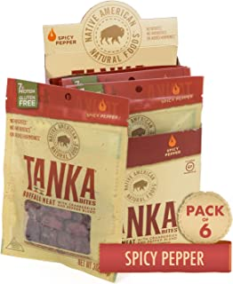 product image for Bison Pemmican Meat Bites with Buffalo & Cranberries by Tanka, Gluten Free, Beef Jerky Alternative, Spicy Pepper, 3 Oz, Pack of 6 (Packaging May Vary)