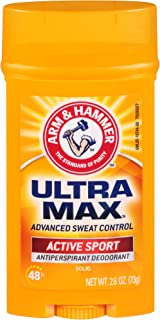 product image for ARM & HAMMER Ultra MAX Deodorant- Active Sport- Solid Stick - 2.6oz- Made with Natural Deodorizers (Pack of 6)