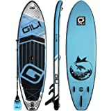 """GILI Meno Inflatable Stand Up Paddle Board: Stable, Rigid SUP with an Extra Wide Stance: 10'6 or 11'6 Long x 35"""" Wide x 6"""" Th"""