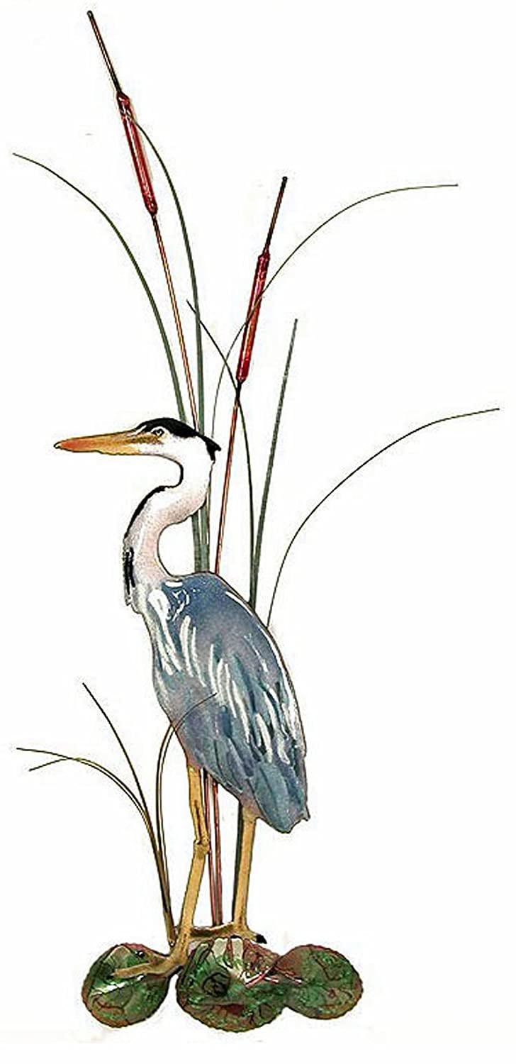 amazon coastal wall art great blue heron metal wall
