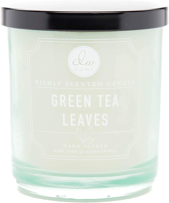 DW Home, Medium Single Wick Candle, Green Tea Leaves