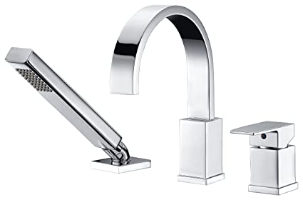 Genial Single Handle Deck Mounted Bathtub Faucet   Polished Chrome   Nite Series  FR AZ473