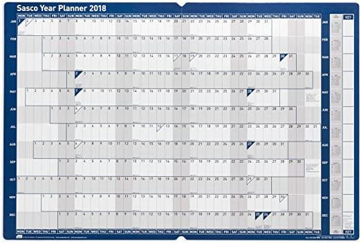 Mounted Planner 2018 Year Planner 915x610mm