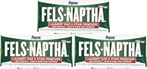 Fels Naptha Laundry Soap and Stain Remover, 3 Pack