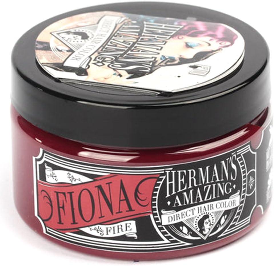 HERMANS PROFESSIONAL Herman increíble vegano semi-permanente color de cabello directa Tinte (4 oz) 4 onzas Fiona Fuego