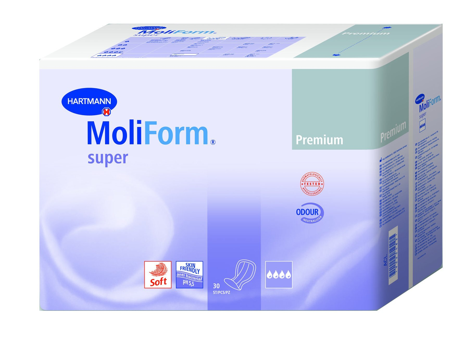 Hartmann Multiform Premium Soft Super/Overnight Air Active Liners, Case of 120