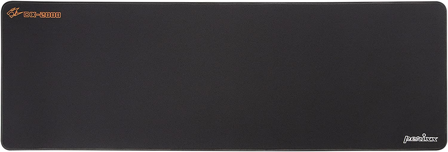 Perixx DX-2000XXL DX-2000 XXL Gaming Mouse Pad, Water Repellent Stitched Edge Cloth Mouse Mat, Black, Extended XXL