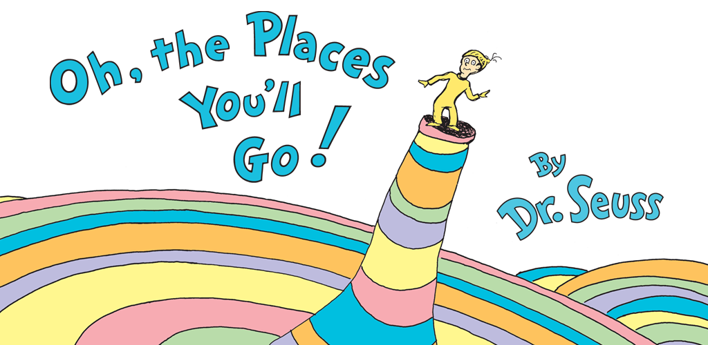 Image result for Oh the places you'll go cover
