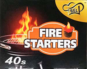 Bel FST40EU Fire Starter, 40 Count Dark Brown