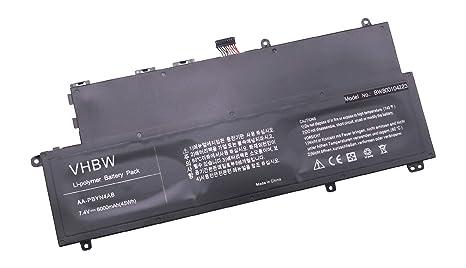 vhbw Litio polímero batería 6000mAh (7.4V) Negro para Laptop Notebook Samsung 530U3,