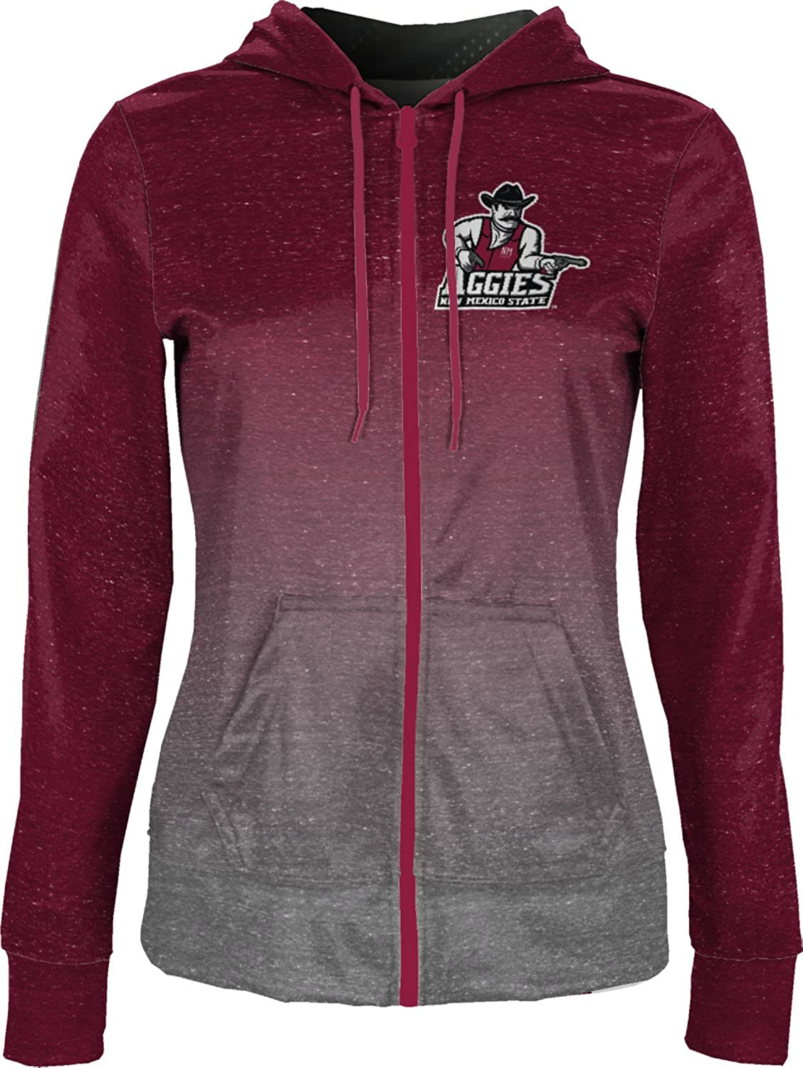Gradient School Spirit Sweatshirt ProSphere New Mexico State University Girls Zipper Hoodie