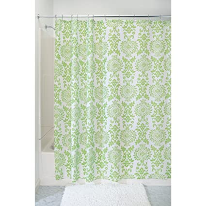 Amazon InterDesign Damask Fabric Shower Curtain 72 X Lime