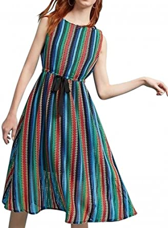 70c431ff43c Anthropologie Rainbow Crochet Midi Dress by Eva Franco $188 Sz 2 - NWT at  Amazon Women's Clothing store: