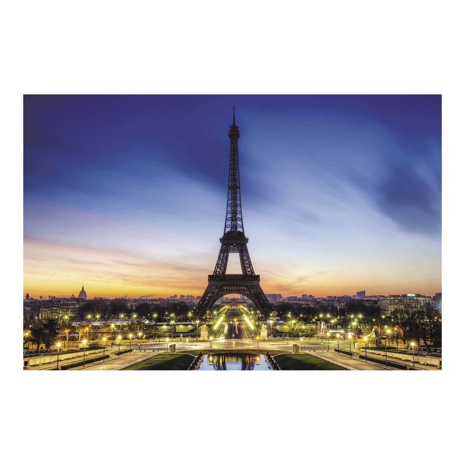 Amazon.com: Eiffel Tower Backdrop Banner (9 Ft. X 6 Ft.) Evening In Paris  By Fun Express: Toys U0026 Games