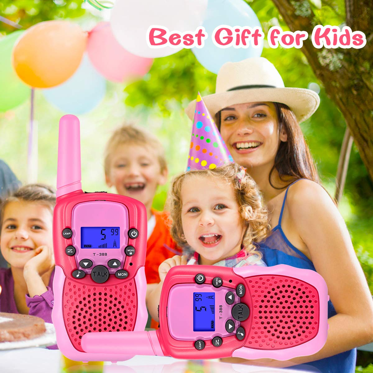 SnowCinda Toys for 3-12 Year Old Girls,Walkie Talkies for Kids with 22 Channels 2 Way Radio 3 Miles Long Range Toy for Outside Adventures, Best Gifts for 4-8 Year Old Boys and Girls by SnowCinda (Image #7)