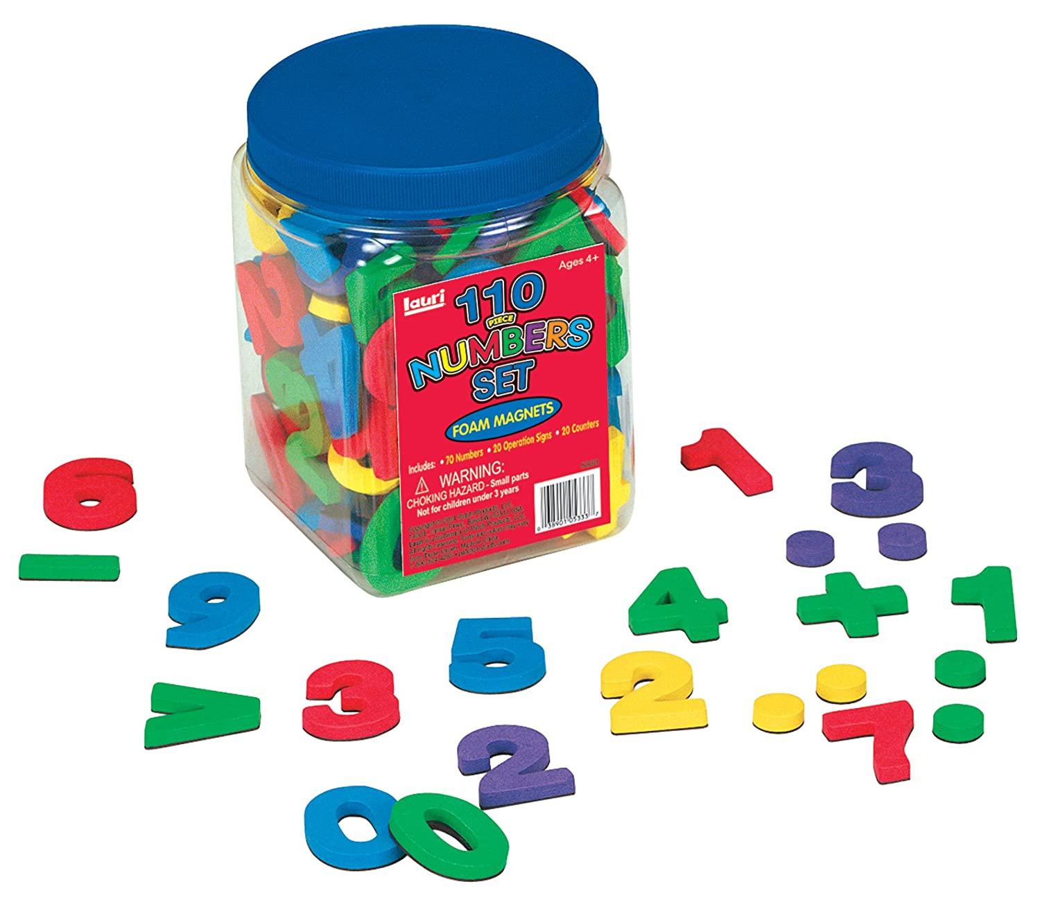 Amazon Lauri Foam Magnets Numbers Toys & Games