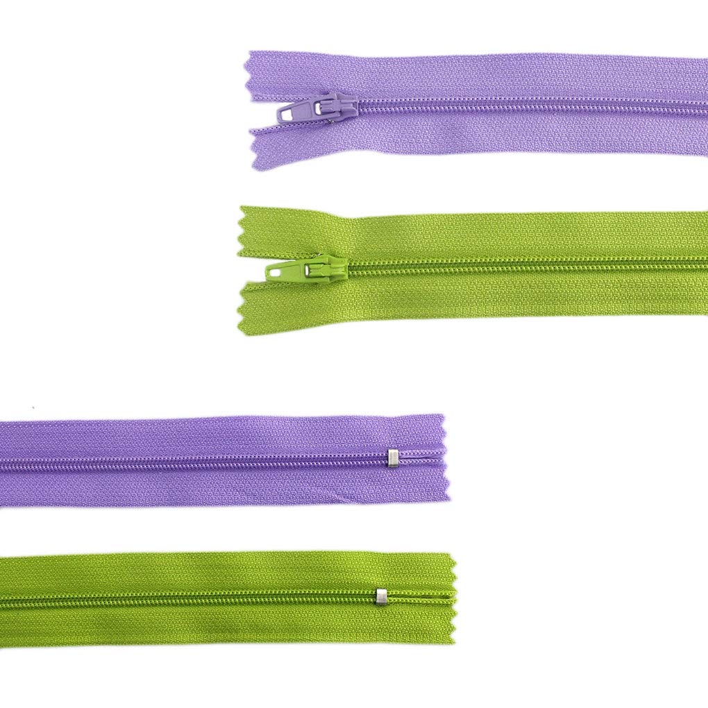 Bantoye 16 Inches Colorful Sewing Zippers Supplies for Tailor Sewing Crafts 80 Pieces Nylon Coil Zippers 20 Assorted Colors
