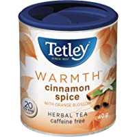 Tetley Tea Warmth (Cinnamon Spice) Herbal Tea, 20 Count