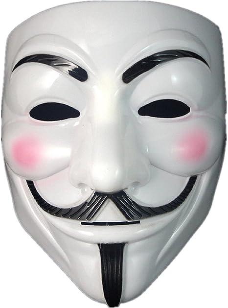 Anonymous V Vendetta Mask White Original Guy Fawkes Mask Durable